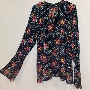 asos maternity bell sleeve floral tunic size NWT